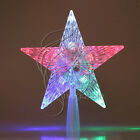 Christmas Crystal Tree Topper Star LED Lights Lamp Multi Color Decoration Xmas