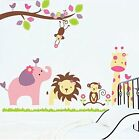 Removable Wall Sticker Decals for Kids Baby Bedroom Animal kingdom 44x38