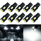 10x 194 161 T10 White SAMSUNG LED Parking Turn signal Blinker Corner Lights Bulb