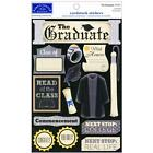 Scrapbooking Crafts Karen Foster Stickers The Graduate Cap Gown Graduation Ring