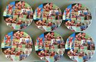 Set of 6 Coca Cola Santa Holiday Christmas Sakura 2002 Plates Collector 6