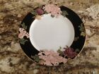 FITZ & FLOYD CLOISONNE PEONY SALAD PLATE (1), WHITE CENTER, APPROX. 7 1/2