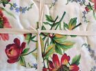 APRIL CORNELL TABLECLOTH 60 X 104 CREAM PINK GREEN FLORAL 100 % COTTON NIP
