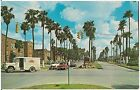 View on Palm Boulevard in Brownsville TX Postcard