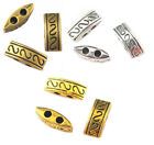 20 100pcs Retro Antique Metal Alloy Two Hole Spacer Beads 10mm Jewelry Making