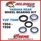 All Balls 25-1493 Yamaha YZF750R YZF 750R 1994-1998 Rear Wheel Bearing Kit