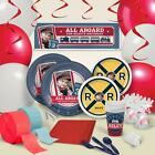 Rustic Railroad Personalized Ultimate Party Pack features trains and railroaD