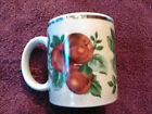 Sakura Oneida Sonoma Pattern Coffee Mugs Fruit Set of Four Nice Used Estate Item