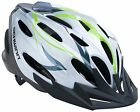 Adult Bicycle Helmet Traveler Adjustable, Flow Vents, Perfect Fit, White/Green
