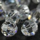 36 pieces Swarovski Element 5000 faceted 4mm Round Ball Beads Crystal Clear