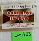 Carboloy Cemented Carbide Insert TBG 443 Grade 370 NEW Lot  A 23