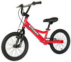 Special Needs STRIDER 16 Sport Balance Bike RED with Rear Brake