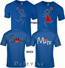 VALENTINE HUG LOVE SOUL MATE Couple Front  Back matching cute TShirts S 5XL