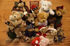 LOT OF 17 BOYDS BEARS COLLECTION includes music box, holiday, and more WITH TAGS