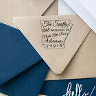 Wood Mounted Personalized Return Address Stamp Custom Unmounted Rubber Stamp