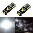 JDM ASTAR 2x T10 Corner Parking License Side Mark White LED Lights Bulbs Short