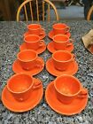 FIESTA ORANGE/POPPY Set of 8 MUGS With SAUCERS  NEW STOCK Homer La