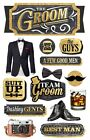Scrapbooking Crafts Stickers Paper House 3D Groom Tux Best Man Camera Drink Guys