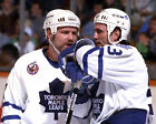 DOUG GILMOUR WENDEL CLARK TORONTO MAPLE LEAFS NHL HOCKEY 8X10 PHOTO PICTURE