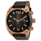 Diesel Men's DZ4297 Overflow Stainless Steel Watch With Black Leather Band