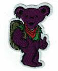Hitch Hiking Bear patch embroidered iron on patches Grateful Dead dancing bears