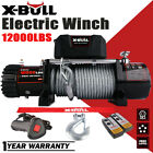 X BULL 12V 12000LBS Electric Winch Steel Cable Towing Truck Trailer Off Road 4WD