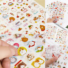 Cute 6pc Rabbit Girl Color Deco Stickers DIY Diary Scrapbook Decal Photo Craft