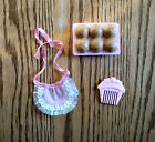 Vintage Strawberry Shortcake Doll Accessories Comb, Muffins, Apron 1980s