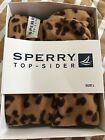 Sperry Top Sider Rain Boot Nellie sock Liner Cheetah Pattern Size Large New