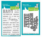 Lawn Fawn Stamps OR Die Set Happy Happy Happy LF1334 Stamps OR LF1335 Dies