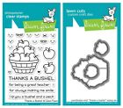 Lawn Fawn Thanks A Bushel Clear Stamp LF1208 or Custom Die LF1209