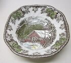 JOHNSON BROS.    FRIENDLY VILLAGE    7 SQUARE CEREAL BOWLS    THE COVERED BRIDGE