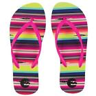 WOMENS BILLABONG STRAND STRIPE FLIP FLOPS SANDALS MULTICOLOR STRIPE NEW 25