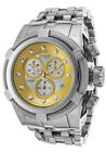 Invicta Men's 21804 Bolt Reserve Chronograph SS Silver and Gold Dial Watch