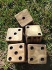 5 Natural Finish Wood Yard Yahzee Lawn Dice Game Pressure Treated