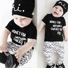 Infant Newborn Baby Boy Girls Summer T shirt Tops+Pants Clothes Outfit Sets WRB