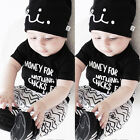 2017 Infant Newborn Baby Boys Girls T shirt Tops+Pants Clothes Outfits Sets 0 3Y