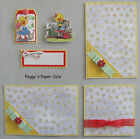 Premade Scrapbook Pages Mat Set Sewn Suzys Zoo LOVE AND HUGS Album pack890