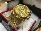 23911 Invicta 53mm Bolt Zeus Swiss Quartz 18KT Gold-Plated SS Bracelet Watch