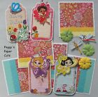 Premade Scrapbook Pages Mat Set FAIRY TALES Sewn Album Layout Girl pack890
