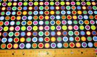 1 yard of COLORFUL SMALL CIRCLES on BLACK 100 Cotton Fabric