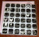 CTMH W327 SWEET LOVE INCHIES STAMPS love alwaysme US youIadore youXOHEART