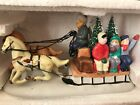 LEMAX DICKENSVALE Village Christmas or Train Country Sleigh Ride Porcelain 1993