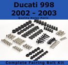 Complete Fairing Bolt Kit body screws fasteners for Ducati 998 2002 - 2003