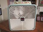 RARE! Vintage AirMaster Large Box Fan Thermostat, Reversible, 3 Speed Retro Blue