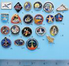 NASA enamel PIN lot of 21 vtg Space Shuttle ENDEAVOR Discovery COLUMBIA Group C