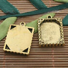8pcs dark gold tone picture frame charm h3389