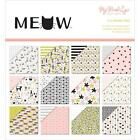 Scrapbooking Crafts Minds Eye Meow 6X6 Paper Pad Cats Pink Black Dots Stripes