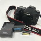 Canon EOS 50D 151 MP Digital SLR Camera Black Body Only Used