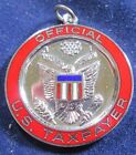 VINTAGE STERLING SILVER ENAMEL OFFICIAL US TAX PAYER CHARM